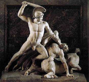 Theseus and the centaur.