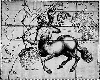The Sagittarius constellation, 1690.